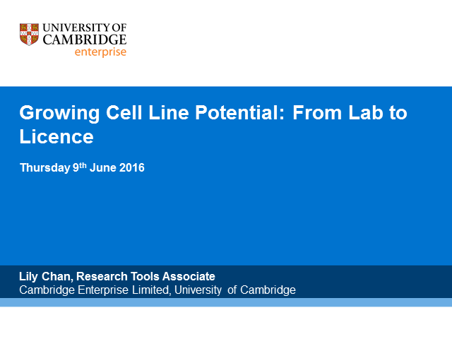 Growing Cell Line Potential: From Lab To Licence S1