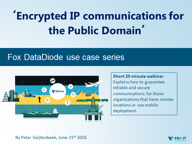 'Encrypted IP communications for the Public Domain'
