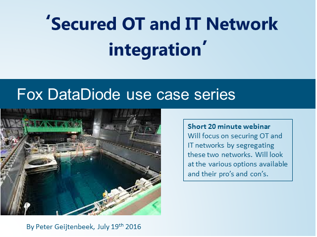 'Secured OT and IT Network integration'