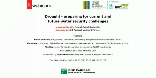 RI webinar: Drought - preparing for current and future water security challenges