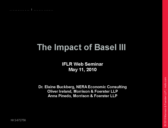 The impact of Basel III