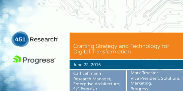 Crafting Strategy and Technology for Digital Transformation