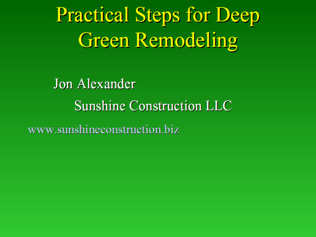 Practical Steps for Deep Green Remodeling