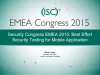 Security Congress EMEA 2015: Best Effort Security Testing for Mobile Application