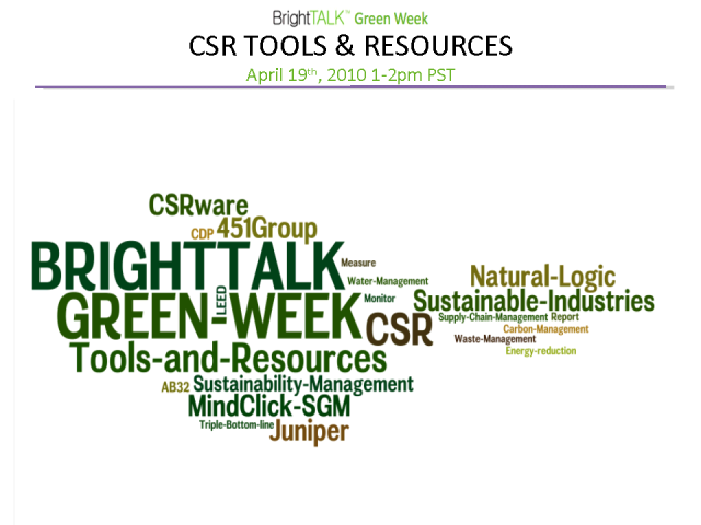 Sustainability Tools & Resources