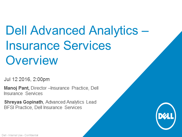 Advanced analytics in insurance