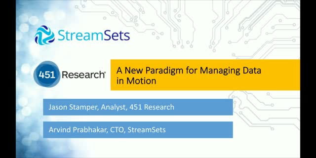 A New Paradigm for Managing Data in Motion