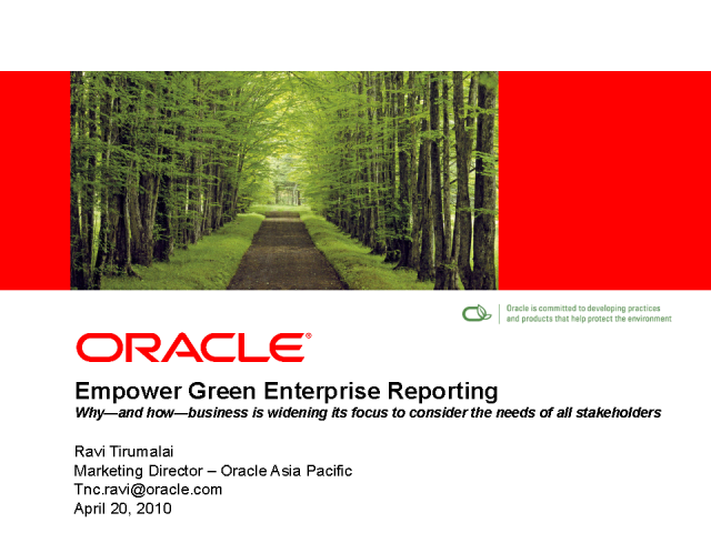 Empower Green Enterprise Reporting