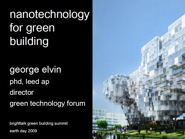 Nanotechnology for Green Building