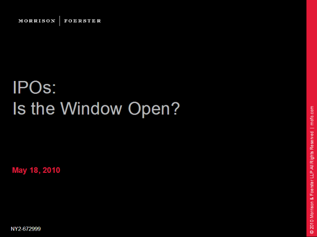 US IPOs: Is the window open?