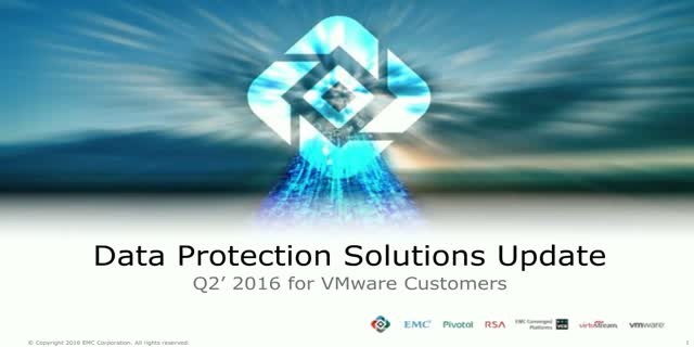 EMC Data Protection Solutions for VMware