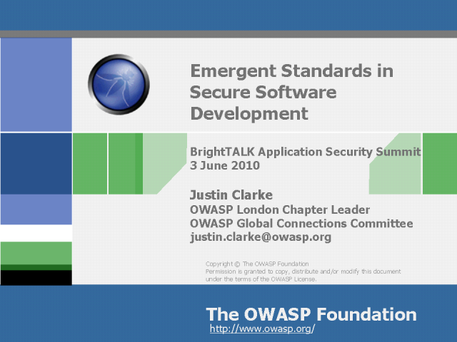Emergent Standards in Secure Software Development