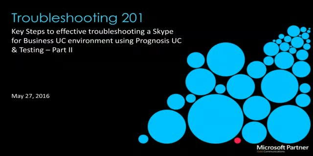 Skype for Business: Troubleshooting 201 (APAC Timezone)