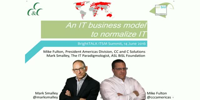 An IT business model to normalize IT