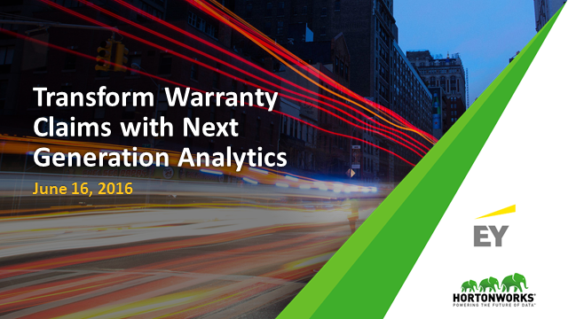 Getting Ahead of Warranty Claims with Next Generation Analytics