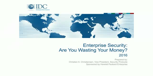 Enterprise Security: Are you wasting your money?