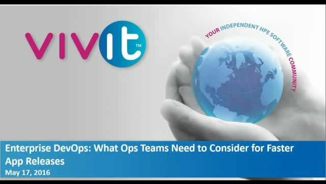 Enterprise DevOps: What Ops Teams Need to Consider for Faster App Releases