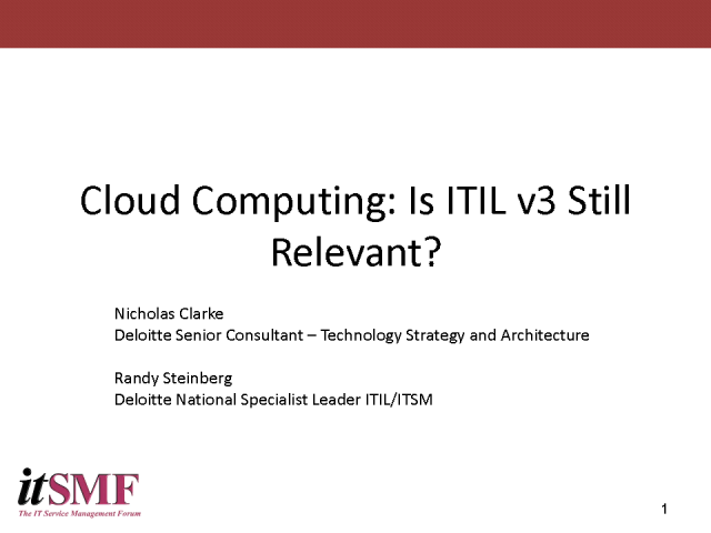 Cloud Computing – is ITIL Still Relevant?