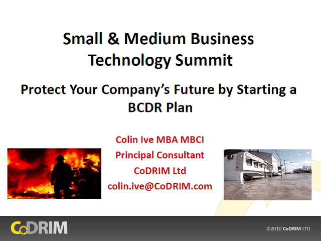 Protect Your Company's Future by Starting a BCDR Plan