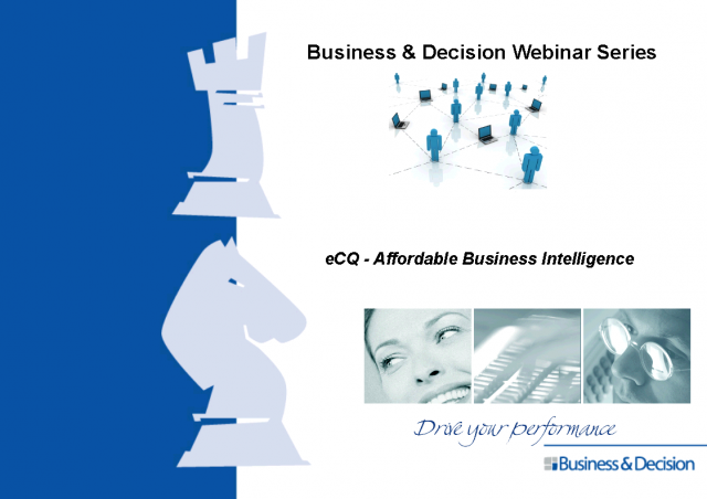 eCQ - Affordable Business Intelligence
