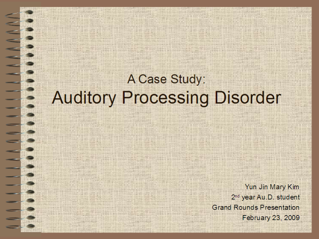 Audiology Grand Rounds- Mary Kim