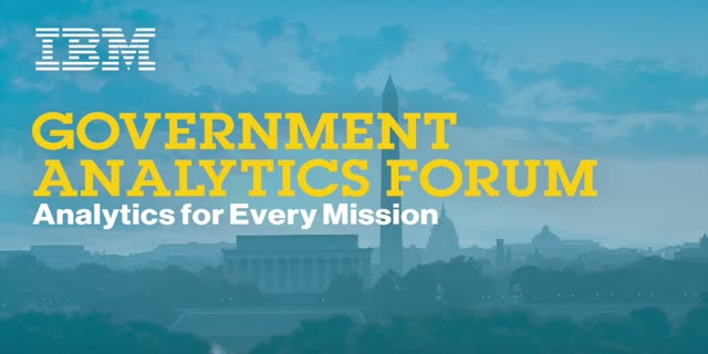 IBM Government Analytics Forum: Enhanced Analytics to Fight Fraud