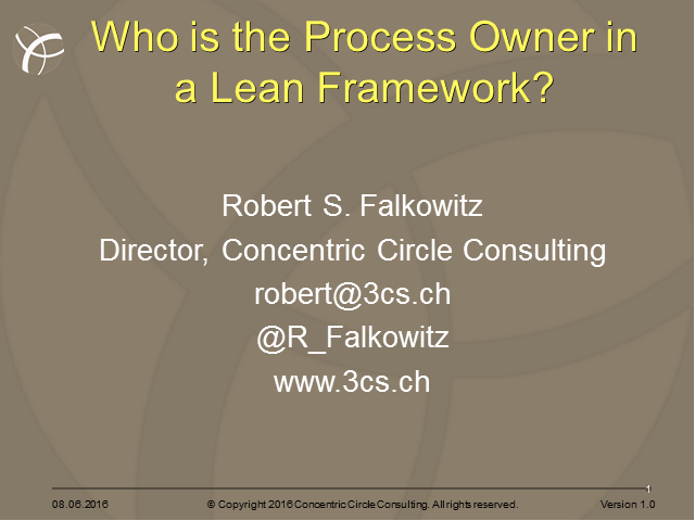 Who is Process Owner in a Lean Framework?