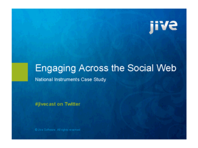Case Study: Engaging Across the Social Web