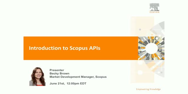 What types of APIs does Scopus offer and how can you benefit?