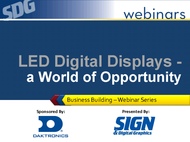 LED Digital Displays - a World of Opportunity!