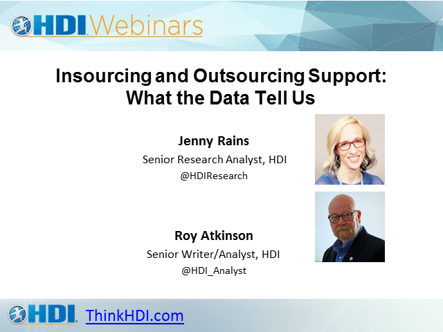 Insourcing and Outsourcing Support: What the Data Tell Us