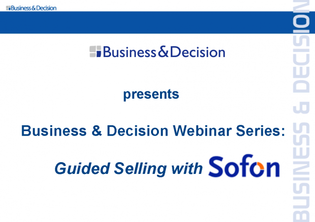 Guided Selling with Sofon Including Product Demonstration