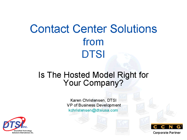 CCNG and partner DTSI discuss contact center soltuions