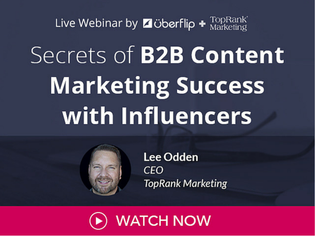 Secrets of B2B Content Marketing Success with Influencers with Lee Odden