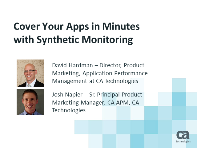 Cover Your Apps in Minutes with Synthetic Monitoring