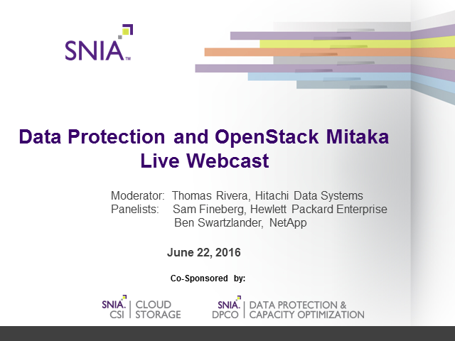 Data Protection and OpenStack Mitaka