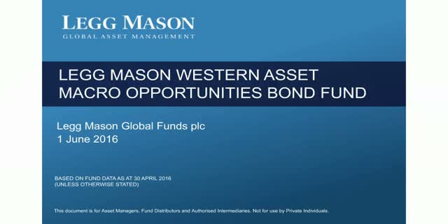 Legg Mason Western Asset Macro Opportunities Bond Fund