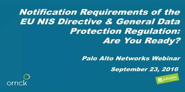 Are you ready for the notification requirements of upcoming EU Legislation?