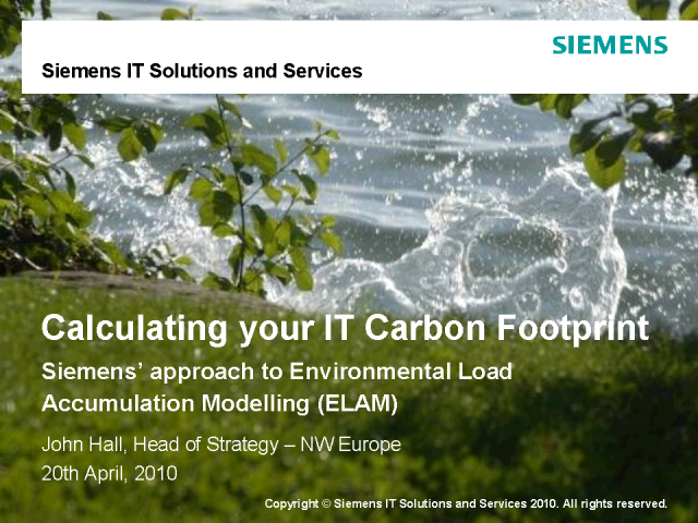Calculating Your IT Carbon Footprint
