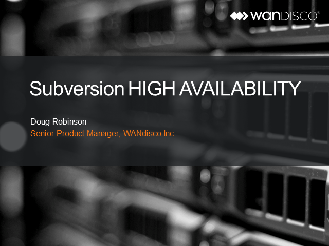 SVN high availability (EMEA)