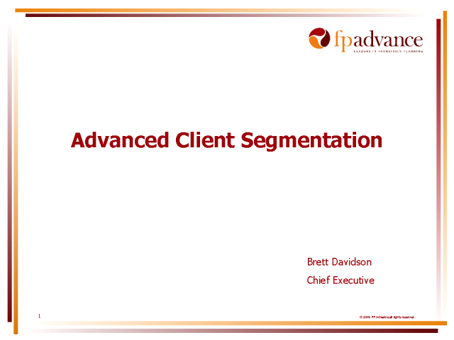 Advanced Client Segmentation