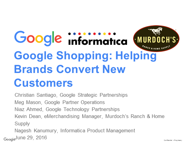 Helping Brands Convert New Customers: MDM - Product 360 & Google Shopping