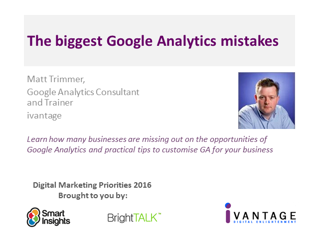 The biggest Google Analytics mistakes