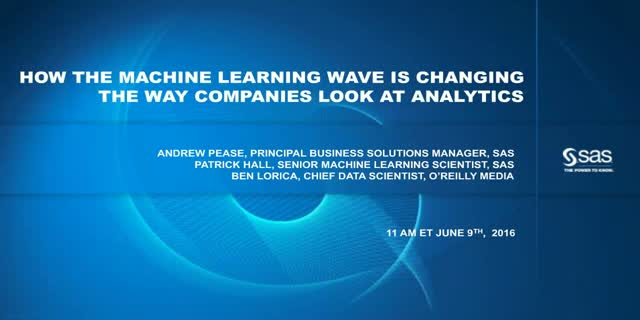 How the Machine Learning Wave is Changing the Way Companies Look at Analytics