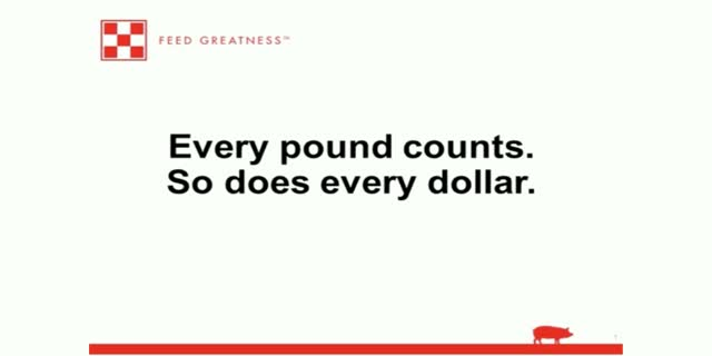 Every pound counts. So does every dollar.