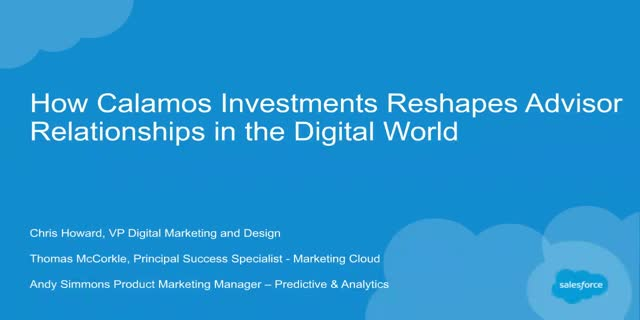 How Calamos Investments Reshapes Advisor Relationships in the Digital World