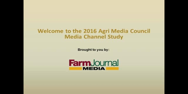 Agri Media Council Channel Study