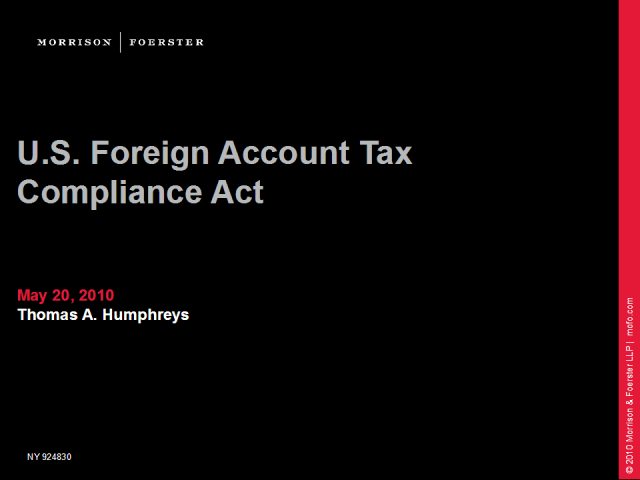 "U.S. Foreign Account Tax Compliance Act (""FATCA"")"
