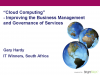 Improving the Management and Governance of Services in the Cloud