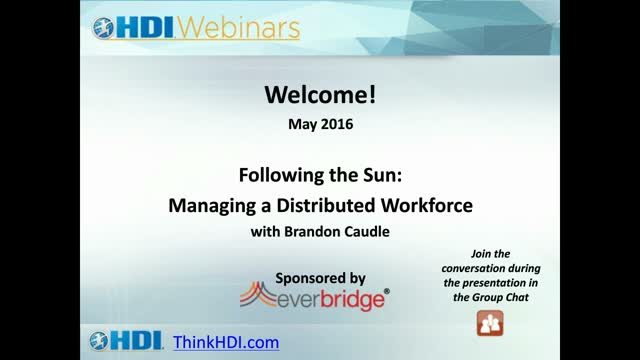 Following the Sun: Managing a Distributed Workforce
